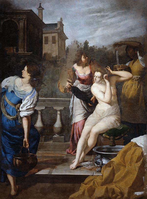David And Bathsheba By Artemseia Gentileschi