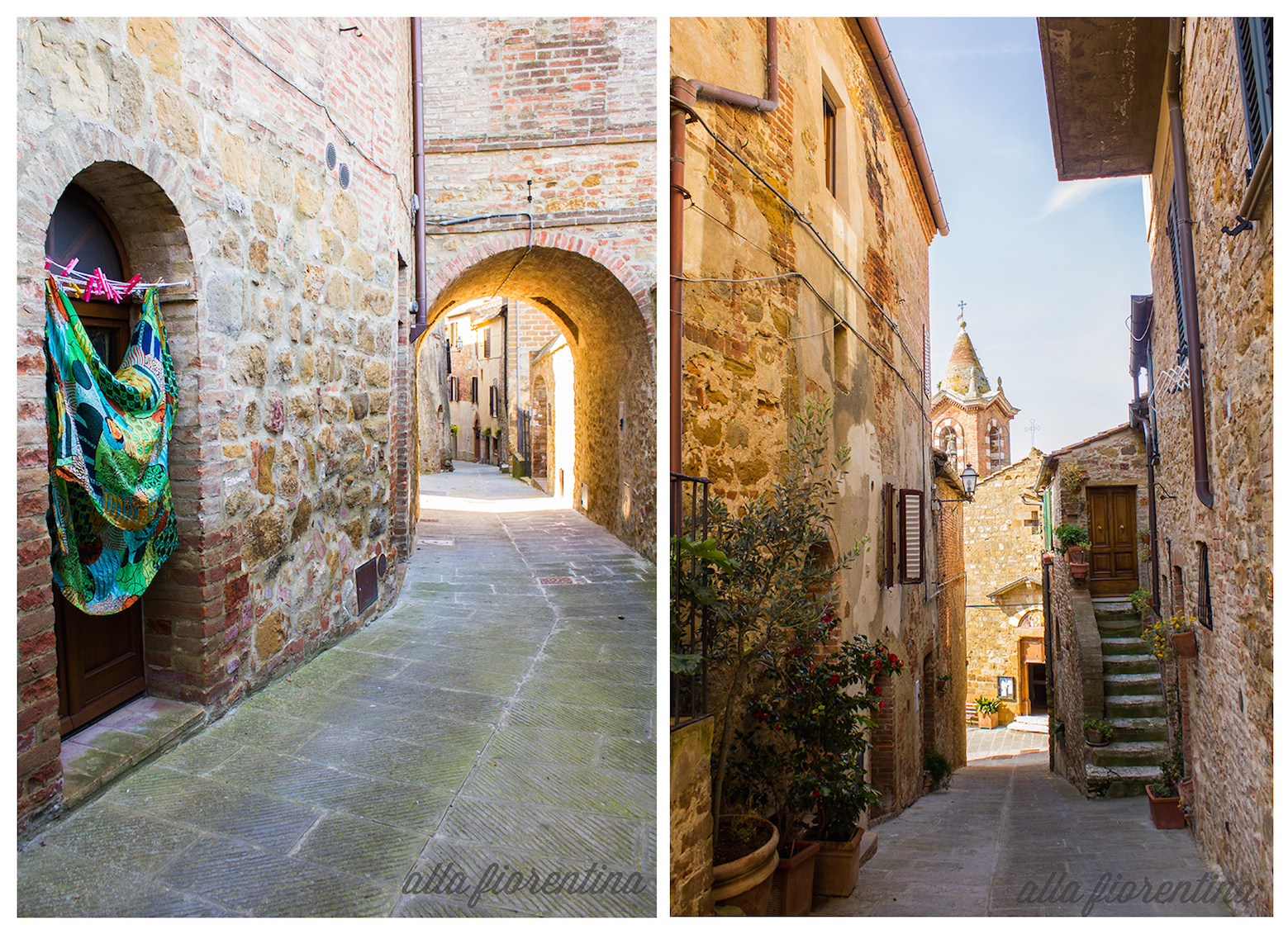 tuscan streets in montisi