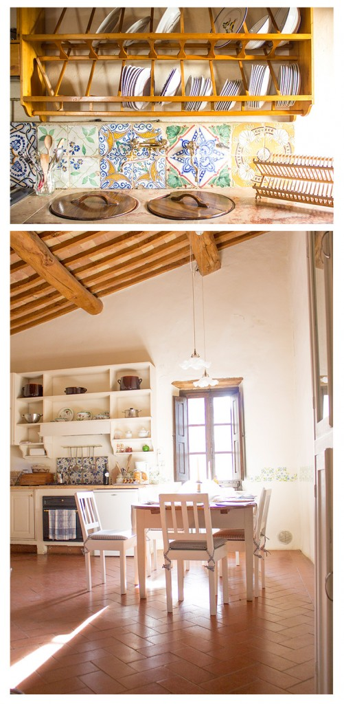 tuscan style kitchen in borgo lucignanello italy